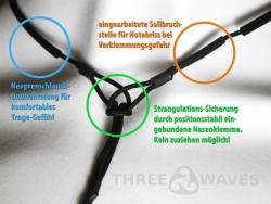 Halshaltesystem inclusive threeWaves-Nasenklammer