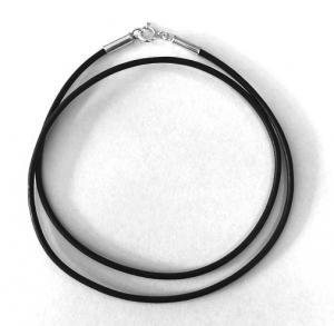 Lederband / Ledercollier mit 925 Silberverschluß
